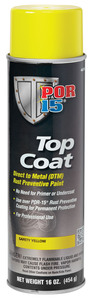 46318 by ABSOLUTE COATINGS (POR15) - Top Coat, Safety Yellow, 16 oz. Spray