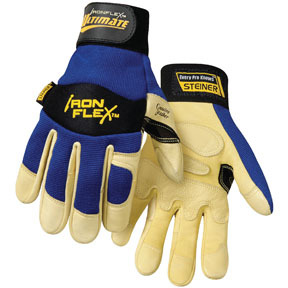 0914-L by STEINER - IronFlex® Ultimate™ Grain Goatskin Leather Palm Gloves, Large
