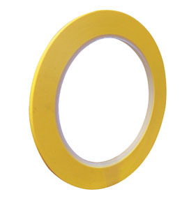 709-0003 by VIBAC - 3mm Yellow PVC Fine Line Masking Tape