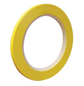 709-0004 by VIBAC - 6mm Yellow PVC Fine Line Masking Tape