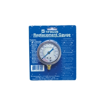 9622B by TIF - Low Side R12 and R22 Auto Glycerine Refrigerant Gauge