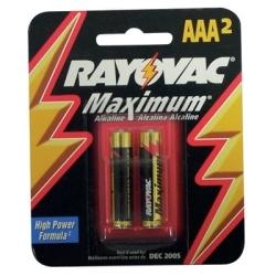 824-2 by RAYOVAC BATTERIES - ALK AAA CARD 2PK