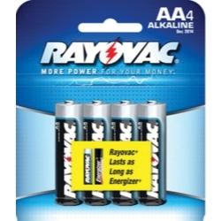 815-4E by RAYOVAC BATTERIES - Rayovac Alkaline AA Batteries 4-Pack