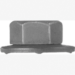 6348 by AUTO BODY DOCTOR - Hex Flange Nuts Loose Washer, Size: 6-1.00mm, Head: 10mm Hex, Finish: Blk Phos., GM11505329, Qty: 10