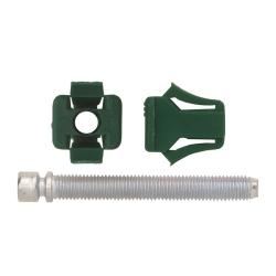 """6703RX by AUTO BODY DOCTOR - Headlight Adj. Screw Green Nylon Nut 1/4-28 X 2"""", Size: 1/4-28"""", Size: 2"""", Qty: 2, Other: 365270"""