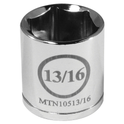 """10513/16 by MOUNTAIN - 3/8"""" Drive 13/16"""" 6 Point Socket"""