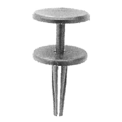 """6111 by AUTO BODY DOCTOR - Push-type Retainer, Size: 1/4"""" (6.4mm), Stem: 1"""", Head: 7/8"""", Chrysler 6506106, Qty: 10"""