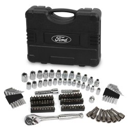 """FHT0460 by FORD TOOLS - 110 Pc 1/4"""" & 3/8"""" Socket Set"""