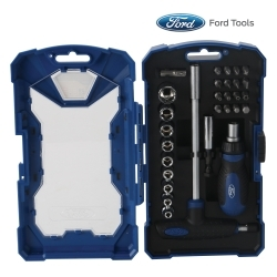FHTH0031 by FORD TOOLS - 29 Piece Ratcheting Screwdriver and Socket Set