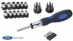 FHTC0051S2 by FORD TOOLS - 34 Piece Ratchet Screwdriver Set, SAE And Metric