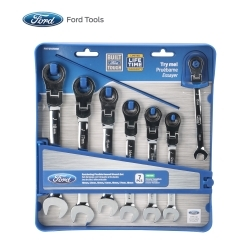 FHT0105MM by FORD TOOLS - 7 Piece Flexible Geared Wrench Set, Metric