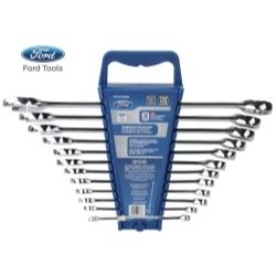 FHTEI078EPIN by FORD TOOLS - 12 Piece Combination Wrench Set, SAE Elliptical Panel