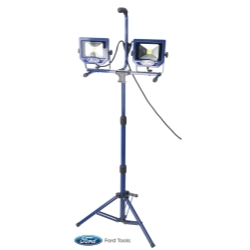 FWL1003 by FORD TOOLS - Worklight With Fast Clamp and Stand, 2 x 20W, 2 x 1400 Lumen