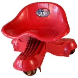 5131R by THE BONE - The Tail Bone Rough Rider™ Mechanics Creeper Seat - Red