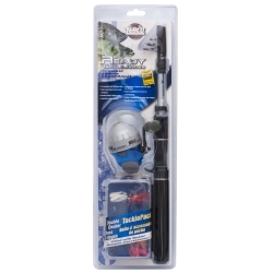RTSCTELE by ZEBCO - Ready Tackle® Telescoping Spincast Combo With Tackle Pack