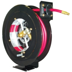 "UTL350 by HOSETRACT INDUSTRIES - Air Hose Reel, 3/8"" x 50' Hose, 300 PSI, Open Heavy Duty Metal Reel, Lightweight, Made in U.S.A."
