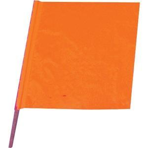 """032293417CSP by CORTINA - All-Weather Traffic Flag, 18"""" x 18"""" w/ 24"""" Dowel"""
