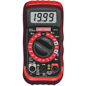 03482141CI by CRAFTSMAN - Craftsman® Manual Ranging Multimeter