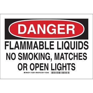 """123693BY by BRADY - Brady® """"Danger Flammable Liquids..."""" Sign, 10"""" x 14"""""""