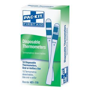 21770AC by ACME UNITED - Disposable Thermometers, 10/Pkg