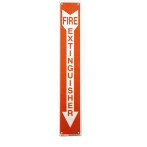 """71655BY by BRADY - Brady® """"Fire Extinguisher"""" Sign w/ Arrow, Fiberglass, 24"""" x 4"""""""
