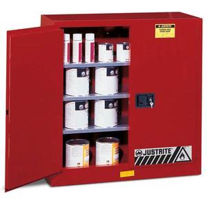 893031JR by JUSTRITE - Justrite® Sure-Grip® EX Class III Paint Storage Cabinet, 40 gal, Self-Closing Doors, Uniform Fire Code