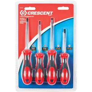 CSD4PCCT by APEX TOOL GROUP - Crescent® 4-Piece Dura-Driver Screwdriver Set