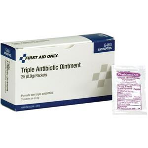 G460AC by ACME UNITED - Triple Antibiotic Ointment (Unitized Refill), 0.9 g, 25/Box