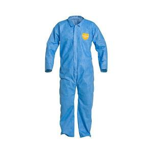 PB120SBUMD002500DP by UPONOR - DuPont™ ProShield® Basic Coveralls w/ Open Wrists & Ankles, Medium, Blue