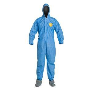 PB122SBUXL002500DP by UPONOR - DuPont™ ProShield® Basic Coveralls w/ Hood, Elastic Wrists, & Attached Skid-Resistant Boots, X-Large