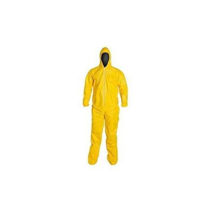 QC122SYLLG001200DP by UPONOR - DuPont™ Tychem® QC Coveralls w/ Attached Socks, Large