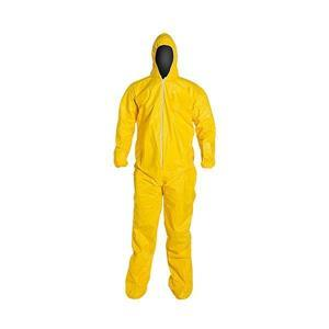 QC122SYLMD001200DP by UPONOR - DuPont™ Tychem® QC Coveralls w/ Attached Socks, Medium