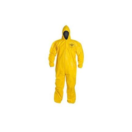 QC127SYLLG001200DP by UPONOR - DuPont™ Tychem® QC Coveralls w/ Elastic Ankles, Large