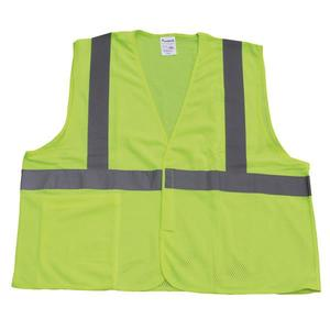SV2C1LXLTF by TRUFORCE - TruForce™ Class 2 Solid Mesh Safety Vest, Lime, X-Large