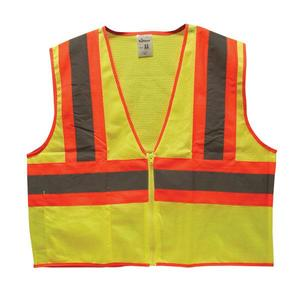 SV2C3OLTF by TRUFORCE - TruForce™ Class 2 Two-Tone Mesh Safety Vest, Orange, Large