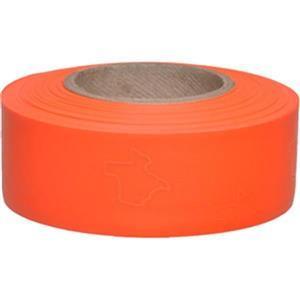 "TX1OGPR by PRESCO - Presco Solid-Color Roll Flagging, Texas, PresGlo, 1"" x 150', Orange Glo, 10/Case"