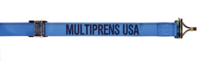 """6126-4-20 by MULTIPRENS - Cam Buckle Strap 2""""x20' with E-Fittings & F Wire Hooks"""