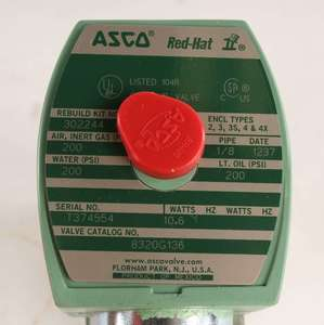 8320G136 by ASCO VALVE CO - SOLENOID VALVE .125FPT 3 WAY 120VAC 3/2NO