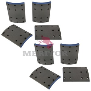 F5574591 by MERITOR - FRICTION MATERIAL - BRAKE LINING KIT, PER AXLE