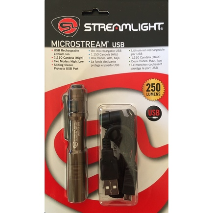 Streamlight Coyote MicroStream USB Rechargeable Flashlight Lithium Ion 66608