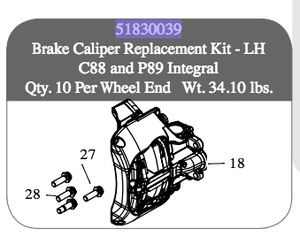 51830039 by SAF HOLLAND - BRAKE CALIPER REPLACEMENT KIT-LH