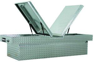 1710308 by BUYERS PRODUCTS - 23x20x71 Inch Diamond Tread Aluminum Gull Wing Truck Box - Lower Half 16x20x60