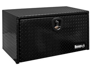 1725130 by BUYERS PRODUCTS - 24x24x24 Inch Black Diamond Tread Aluminum Underbody Truck Box