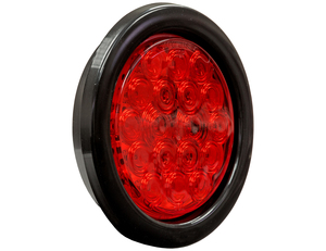 5624118 by BUYERS PRODUCTS - 4 Inch Red Round Stop/Turn/Tail Light Kit With 18 LED