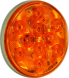 5624251 by BUYERS PRODUCTS - 4 Inch Round Turn Signal Light with AMP-Style Connection