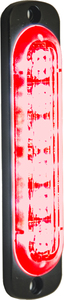 8891913 by BUYERS PRODUCTS - Rec. Red LED Thin Mount Vertical Strobe Light, 12-24V