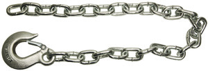 BSC3842 by BUYERS PRODUCTS - 3/8x42 Inch Class 4 Trailer Safety Chain With 1-Clevis Style Slip Hook-43 Proof