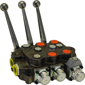HV3311NAAG2EC0 by BUYERS PRODUCTS - 3 Spool Directional Control Valve 3-Way Detent In/4-way Spring Center/4-Way/PB