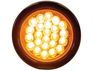SL41AR by BUYERS PRODUCTS - LIGHT,STROBE,4in ROUND,AMBER,(24) LED,