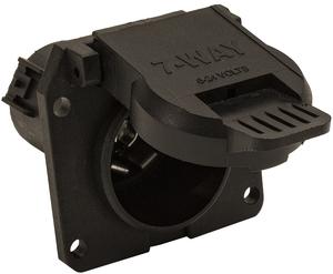 TC1770P by BUYERS PRODUCTS - Bulk TC1770P 7-Way Black Plastic Flat Pin Truck Receptable